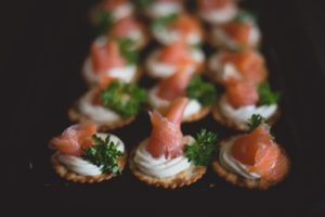 Smoked Salmon Cream Cheese Wedding Buffet