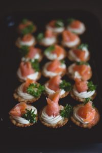 Smoked Salmon Cream Cheese Wedding Buffet