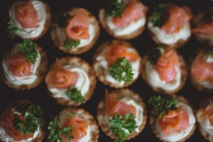 Wedding Buffet Smoked Salmon Cream Cheese Crackers