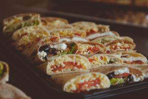 Wedding Buffet Vegetarian Wraps