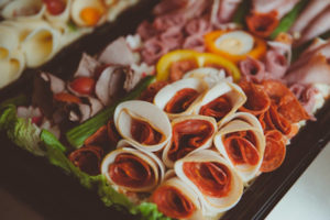 Meat platter homemade catering finger food cater Crawley West Sussex Surrey wedding birthday parties anniversary christening wedding funeral