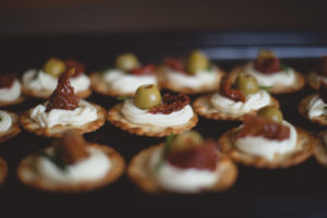 Cream Cheese Sun dried Tomato Olive Crackers