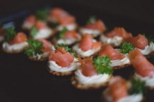 Salmon cream cheese cracker