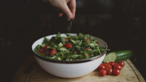 Rustic Salad Rocket cherry tomato party food Crawley West Sussex Surrey catering parties birthday wedding cater