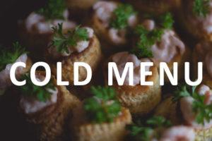 cold menu