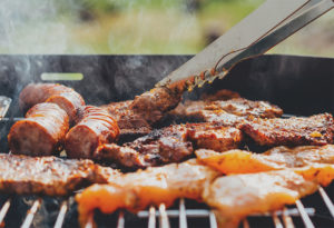 hot bbq sausages hot menu catering Crawley West Sussex Surrey buffet Wedding Funeral christening birthday party food