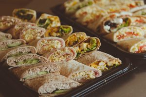 wraps sandwich platter platters party food buffet catering cater Crawley West Sussex Surrey party food anniversary birthday office meeting occasions funeral