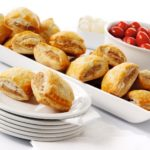 mini coctail sausage rolls kids party food catering finger food party buffet West Sussex Crawley Surrey