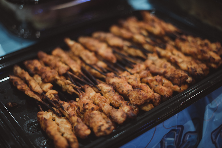 chicken satay catering finger food party Crawley West Sussex birthday funeral wedding