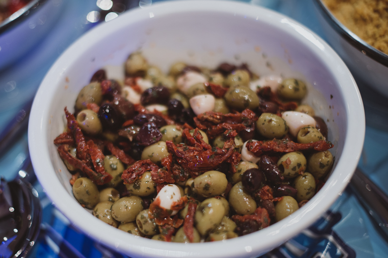 mixed olives, party food, catering buffet finger food birthday funeral outside wedding parties