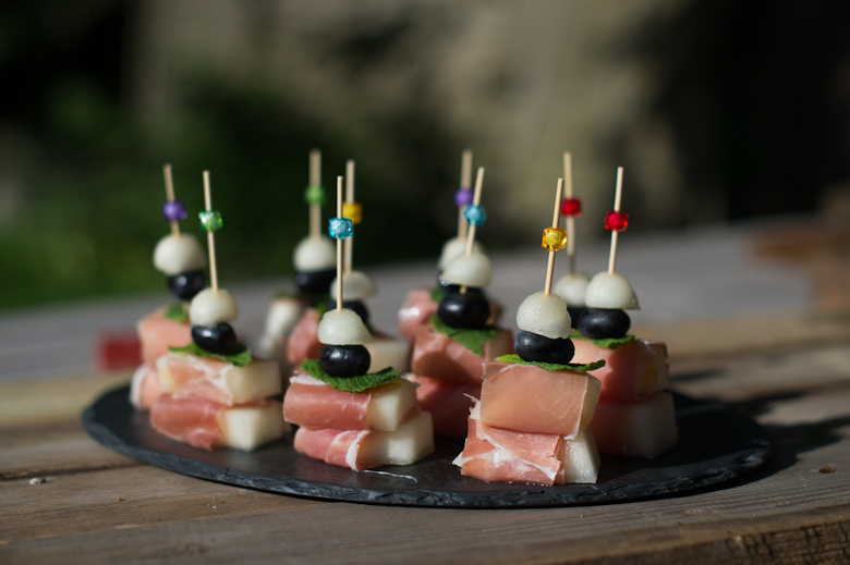 Love Bean Melon Parma Ham Canape Catering Gluten Free West Sussex Crawley 2 Finger Food Party Canapes
