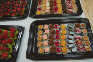 fruit and cake selection 2 Wedding buffet Catering Crawley West Sussex catering dessert Crawley birthday anniversary