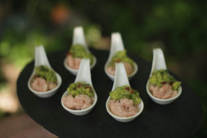 prawn coctail with quacamole canape canapes Crawley West Sussex catering cater buffer finger food wedding party food finger anniversary birthday wedding cater East Sussex exclusive posh wedding weddings canapes